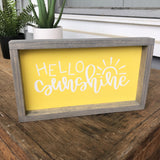 Hello Sunshine Sign - Yellow