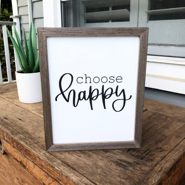Choose Happy (Black) Print