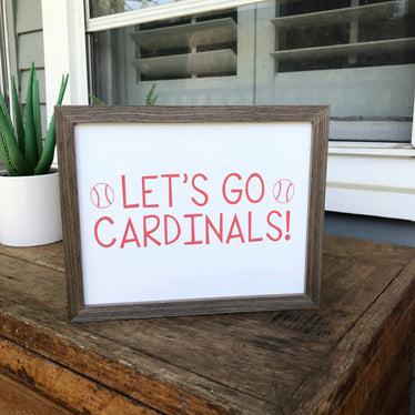 Let's Go Cardinals (Red) Print