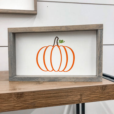 Pumpkin Outline Sign