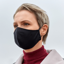 Load image into Gallery viewer, Reusable 3-Layer Face Mask + 2 FREE FILTERS (Black)