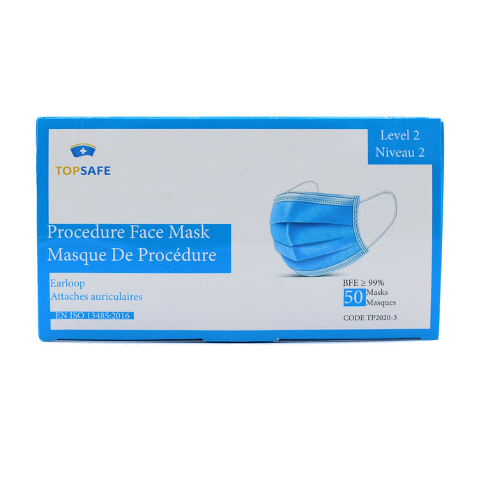 Medical Level 2 Procedure Face Mask (Box of 50) - PPE Supply Canada