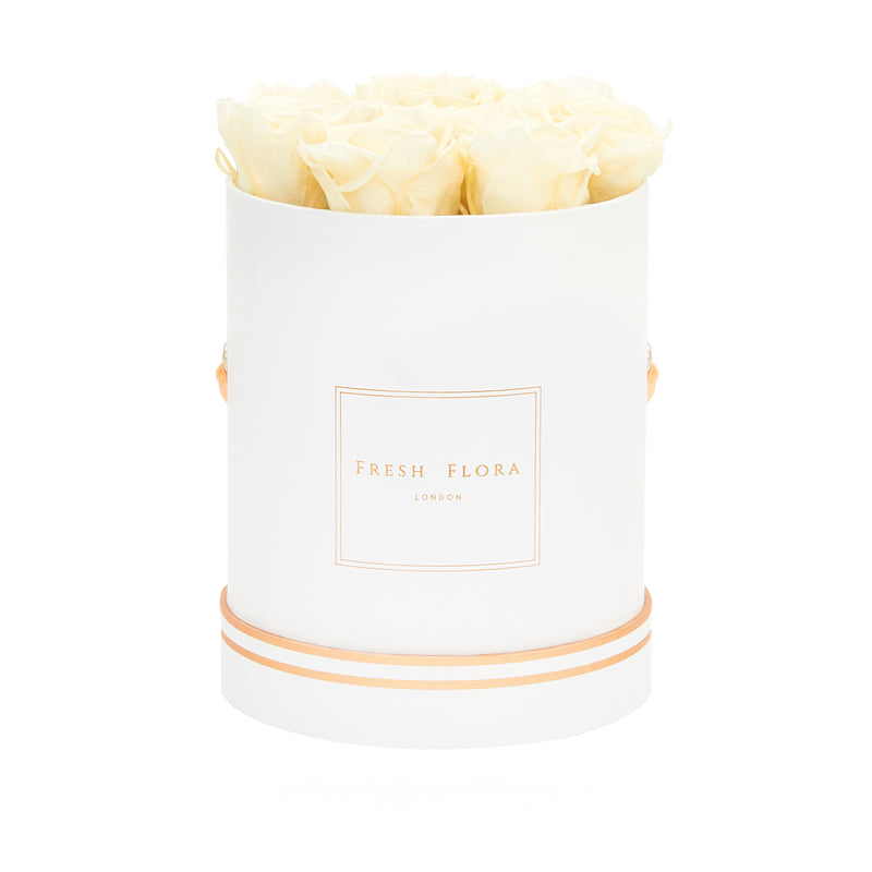 Medium White Round Box - Fresh Flora London