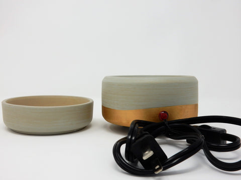 Bronze Dipped Ceramic 2 in 1 Wax + Candle Melter