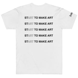 Start to Make Art TShirt - Indicive + Laura Parra (Black Letters)