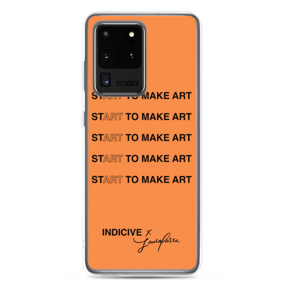 Start to Make Art - Samsung Case (Orange)