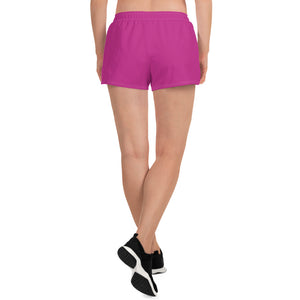Indicive Sunset - Women's Athletic Short Shorts (Pink)