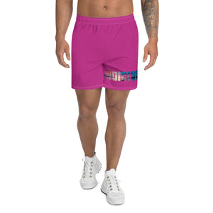 Indicive Sunset - Men's Athletic Long Shorts (Pink)