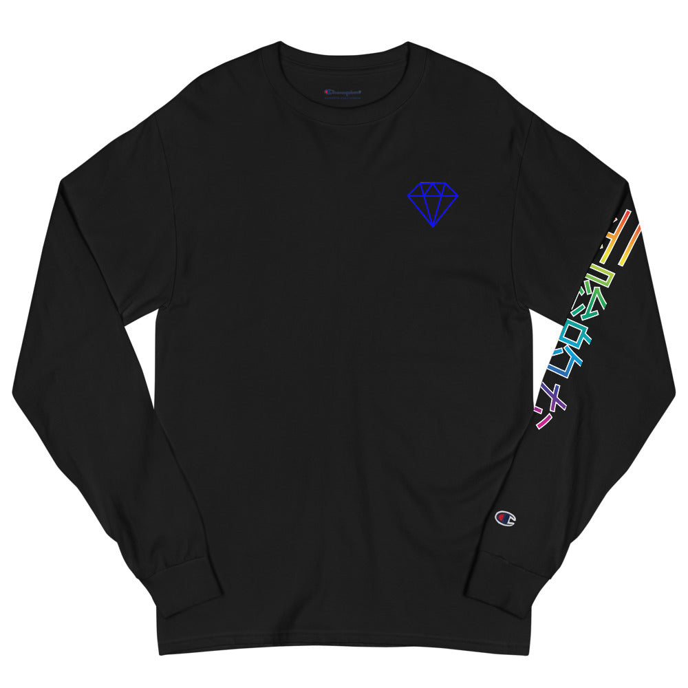 Indicive Diamond + Japanese - Champion Long Sleeve Shirt