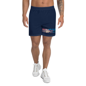 Indicive Sunset - Men's Athletic Long Shorts (Navy)