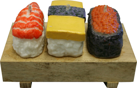 Sushi Candle Set on Block