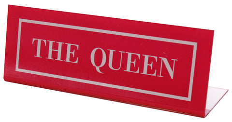 The Queen Desk Plate