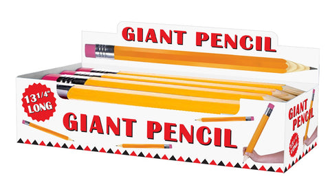 Jumbo Pencil Display - Yellow