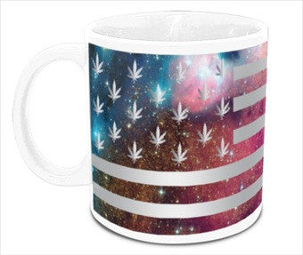 Laser Galaxy Pot Leaf Mug
