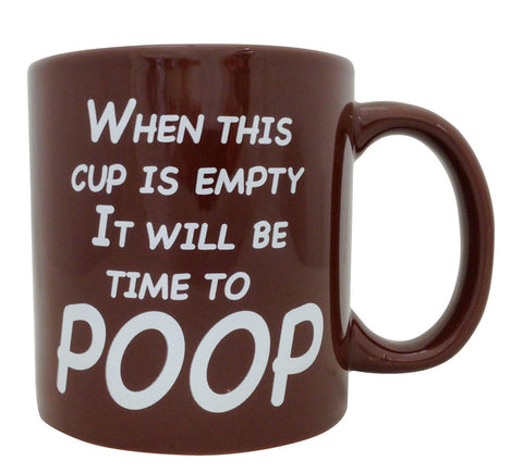 Giant Time To Poop Mug