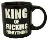 Giant King of Fucking Everything Foil Mug