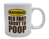 Giant Old Fart About To Poop Mug