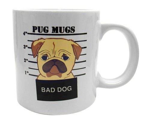 Giant Bad Dog Pug Mug