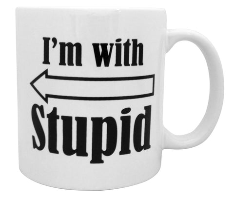 Giant I'm With Stupid Mug