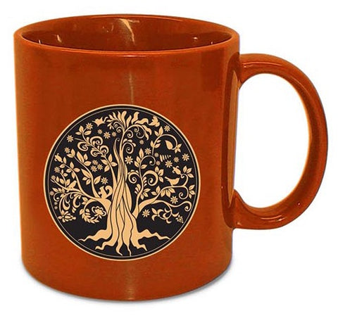 Giant Orange Tree of Life Mug