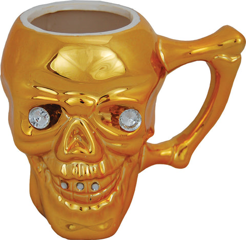 Skull Mug with Diamond Eyes
