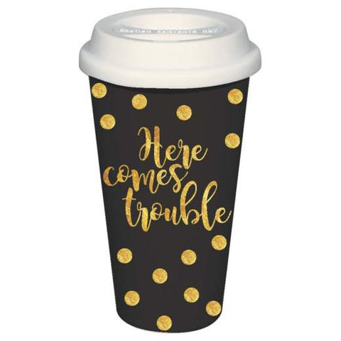 Here Comes Trouble Travel Mug