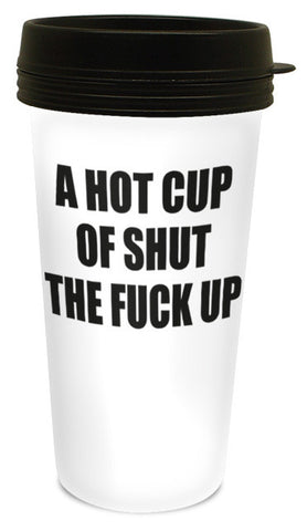 A Hot Cup Travel Mug