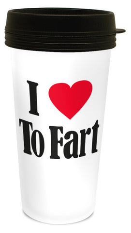 I Love To Fart Travel Mug