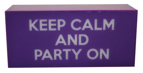 Keep Calm and Party On Box Light