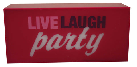 LIve Laugh Party Box Light