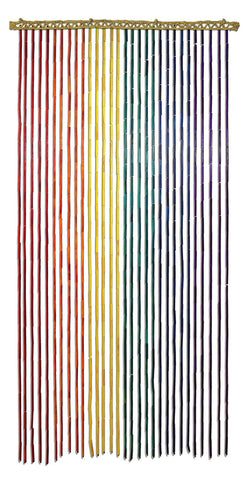 Bamboo Curtain - Rainbow