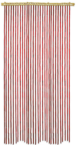 Bamboo Curtain - Red