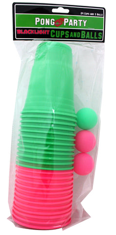 Blacklight Pong Set (Pink/Green)