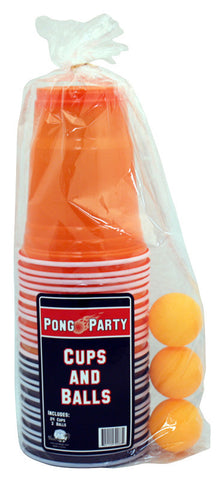 Orange & Black Pong Set