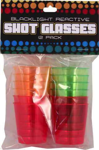 Black Light Shot Glass Set