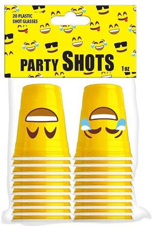 20pc Smiley Shot Cups