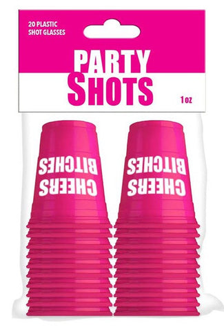 20 pc Cheers Bitches shot cups