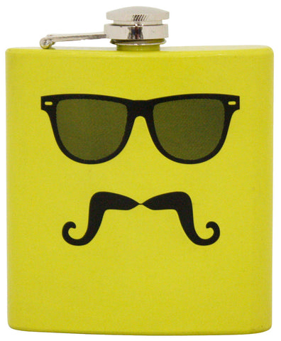 Mustache in Disguise Flask
