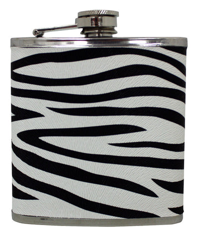 Zebra Fabric Flask