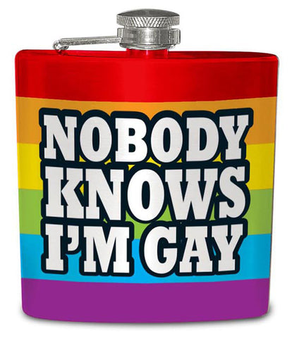 Nobody Knows I'm Gay Flask