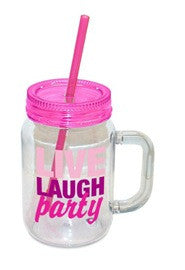 Mason Jar Live Laugh Party
