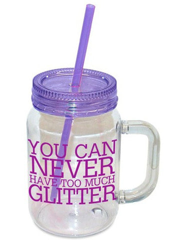 Mason Jar Too Much Glitter