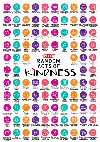 Random Acts of Kindness Scratch Poster