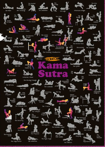 Karma Sutra Scratch Poster