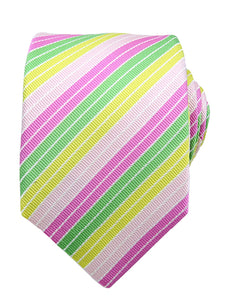 PINK, GREEN & YELLOW TIE