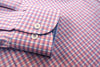 PINK TWILL CHECK WITH CUFF TRIM - SINGLE CUFF