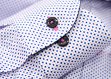 PINK & NAVY NOUGHTS & CROSSES PRINT WITH CUFF TRIM - SINGLE CUFF