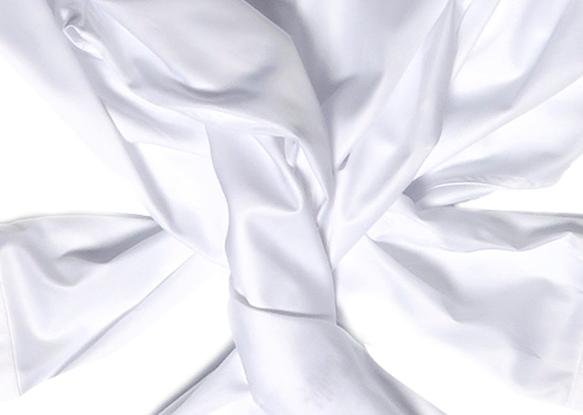 WHITE LUXURY TWILL - SINGLE OR DOUBLE CUFF