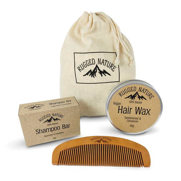 Rugged Nature Hair Wash and Style Kit