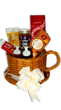 Coffee in a Cup Wicker Gift Hamper Occassionz Ltd (Basket of Love)